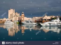 mega yachts at the atlantis resort and marina on paradise island