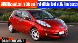 nissan leaf spy shots 2018 nissan leaf is this our first official look at its final