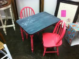 funky fun finds kids chalkboard table u0026 chair set