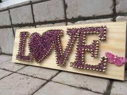 home decor love love string art nail home decor wall luchicdesign dma homes 81136