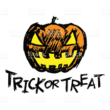 halloween abstract halloween jackolantern pumpkin head and trick or treat text stock