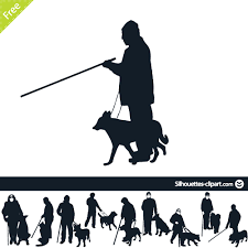 Blind Dog And His Guide Dog Blind Man And His Guide Dog Silhouettes Pinterest Guide Dog