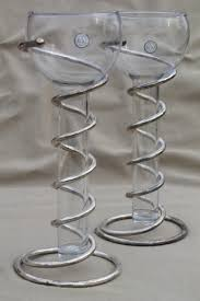 Test Tube Vase Holder Godinger Silver Art Spiral Metal Vases Or Candle Holders W Tall