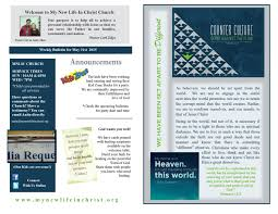 church bulletins mynewlifeinchrist org