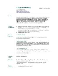 Resume Template For College Students by Resume For College Student Template Resume Templates For