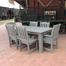 7pc Patio Dining Set - lehigh collection highwood synthetic wood 7pc outdoor dining set