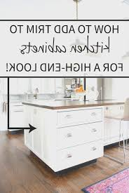 kitchen cool how to add molding to kitchen cabinets design