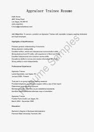 property claims adjuster resume appraiser trainee cover letter