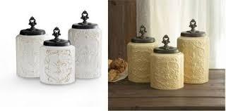 country kitchen canisters sets canister set 3 pc fleur de lis antique country kitchen