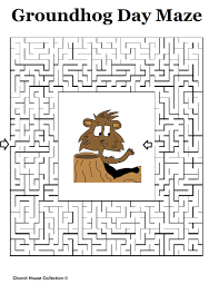 church house collection blog groundhog day mazes for teachers