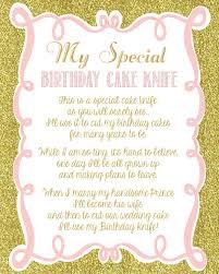 Halloween Party Poem Invite Shabby Chic Vintage Girly Birthday Cake Knife Poem Sign Diy