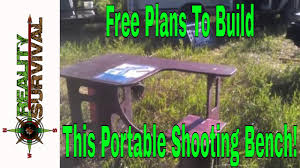 Plans For A Shooting Bench Free Plans To Build Your Own Diy Portable Shooting Bench Youtube