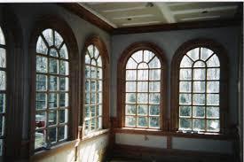contemporary cream stair tower with windows wooden windows design