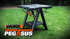 Furniture Enjoy Your Backyard With Perfect Picnic Tables Lowes by Shop Worx Pegasus 31 In W X 32 In H Plastic Work Bench At Lowes Com