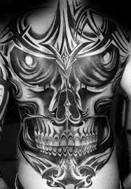 50 tribal skull tattoos for men masculine design ideas