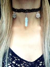 quartz rock necklace images Jewels opal moon moonstone necklace snowflake snow necklace jpg