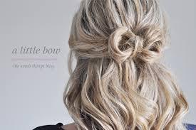 bow hair a bow hair tutorial the small things