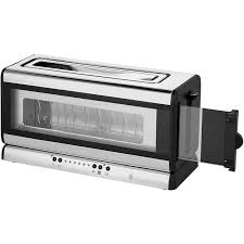 Russell Hobbs Toasters Russell Hobbs Glass Line 21310 2 Slice Toaster Silver Black