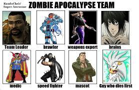 My Zombie Apocalypse Team Meme Creator - image 679632 my zombie apocalypse team know your meme