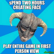 Creating Meme - spend two hours creating face play entire game in first person view
