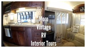 more vintage rv interior tours youtube