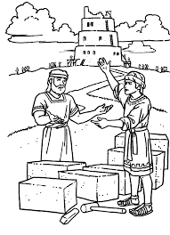 tower of babel coloring page 4742