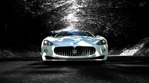 maserati coupe white white full front