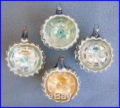 7 antique german glass tree ornaments reflectors