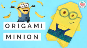 origami minion paper crafts origami for kids youtube