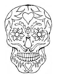 printable coloring pages sugar skulls skull printable coloring pages sugar skull 2 coloring page