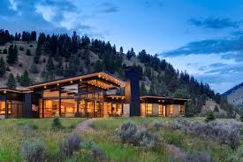natural modern sustainable luxury house big sky montana plan home