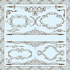 simple frame with borders and ornaments vector design 06 vector