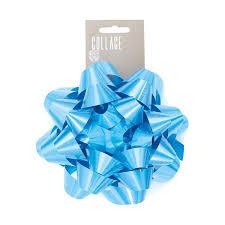 large gift bow large blue gift bow