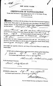 david clarence executor letter template family history the tiger s mouth george ah len s naturalisation certificate 1878