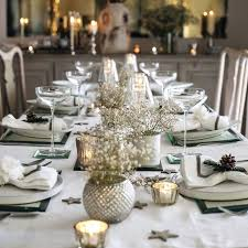 blue and silver christmas table decoration ideas captivating gold