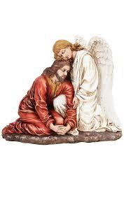 jesus loved by angel figurine garden of gethsemane get it today
