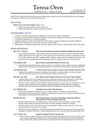 Resume Examples For Physical Therapist by Resume Furniture Finishers Traffic And Production Manager Resume