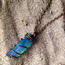 real crystals necklace images Best wire wrapped crystal necklace products on wanelo jpg