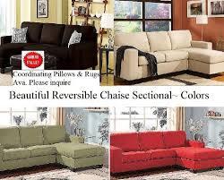 microfiber chaise sofa amazon com microfiber reversible chaise sectional sofa multiple
