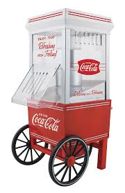 amazon com nostalgia ofp501coke coca cola 12 cup air popcorn