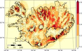 Wind Speed Map Belgingur Wind Resources In Iceland