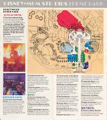 Mgm Grand Map Disney Mgm Studios Guide Book 1989 Photo 1 Of 13