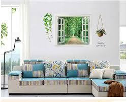 Tree Wall Decals For Living Room Ay823 3d View Window Decal Family Tree Wall Sticker Art Mural Wall
