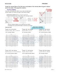 rotation worksheet geometry free worksheets library download and