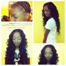 hair weave styles 2013 no edges full sew in with lace closure no glue hair sewn on weaving net