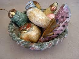 terra cotta fruit bowl mexican ceramic fruit basket clay faux