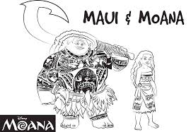 maui moana coloring page sheet