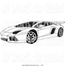 cartoon sports car black and white lamborghini clipart lamborghini aventador pencil and in color