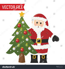 vector santa christmas tree stock vector 230173969 shutterstock