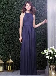 halter bridesmaid dresses dessy 2918 bridesmaid dress halter neckline cutout back
